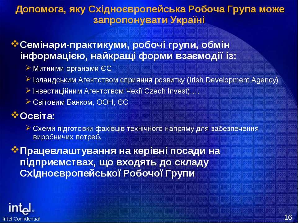 Допомога, яку Східноєвропейська Робоча Група може запропонувати Україні Семін...