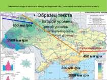 Зменшення опадів з північного заходу на південний схід – зростання континента...