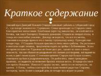 Земский врач Дмитрий Ионович Старцев приезжает работать в губернский город С....