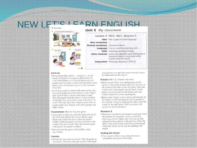 NEW LET'S LEARN ENGLISH