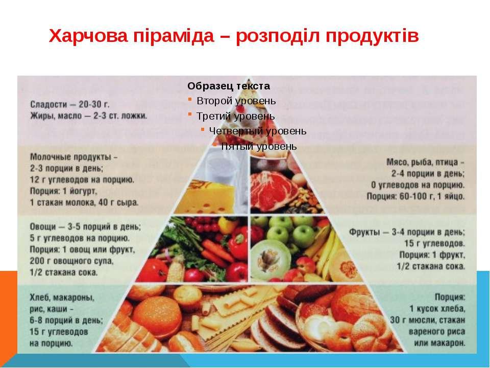 Харчова піраміда – розподіл продуктів