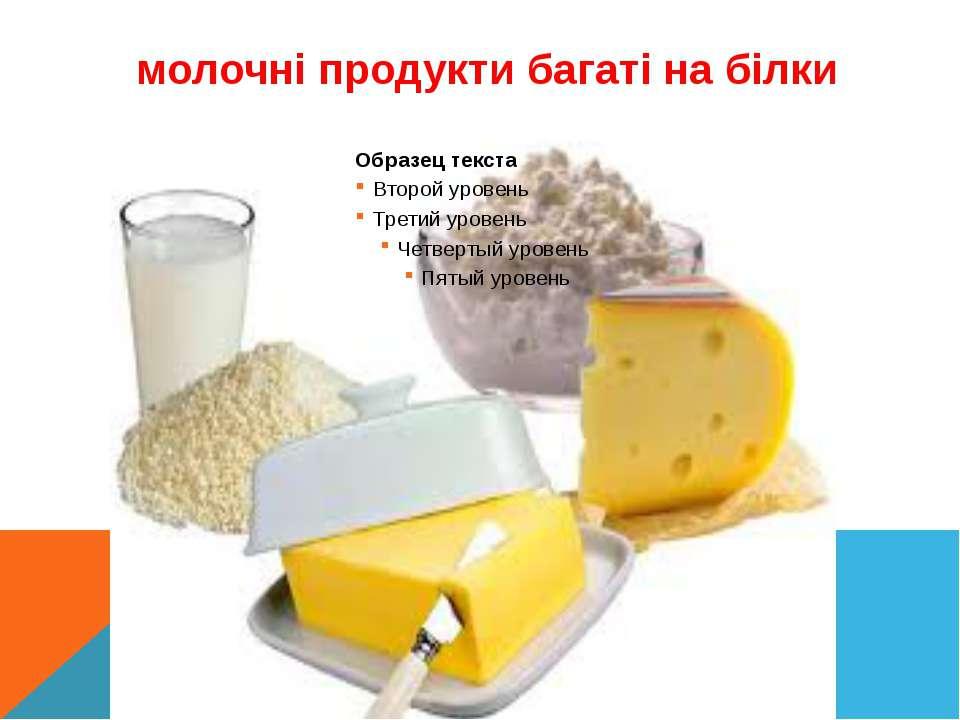 молочні продукти багаті на білки