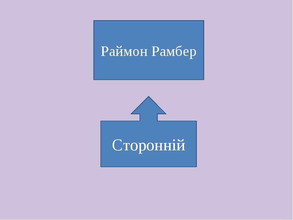 Сторонній Раймон Рамбер