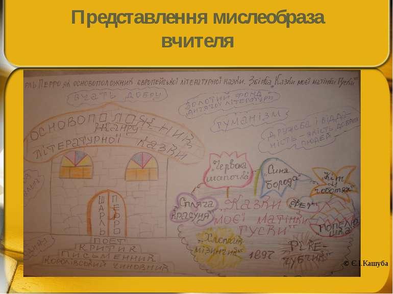 Представлення мислеобраза вчителя © Є.І.Кашуба