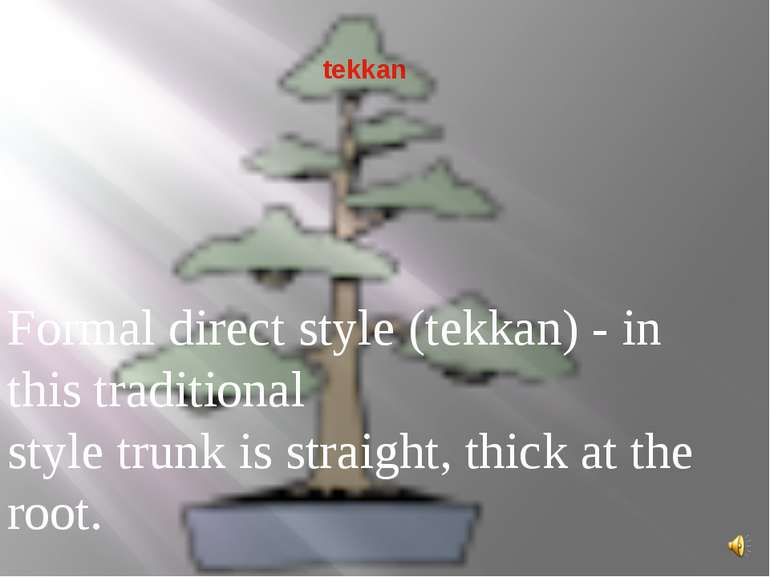 tekkan Formal direct style (tekkan) - in this traditional style trunk is stra...