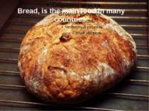 Bread, is the main food in many countries.