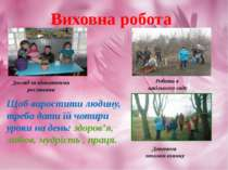 Виховна робота Догляд за кімнатними рослинами Робота в шкільному саду Щоб вир...