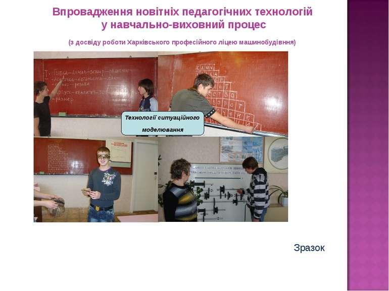 Технології ситуаційного моделювання Впровадження новітніх педагогічних технол...