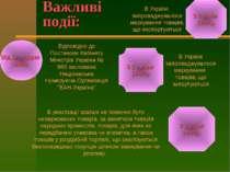 Важливі події: Від 12 грудня 1994р. З 1 січня 1999р. З 1 липня 1997р. З 1 січ...