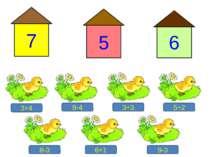 3+4 9-4 3+3 5+2 8-3 9-3 6+1 7 6 5 Молодці!