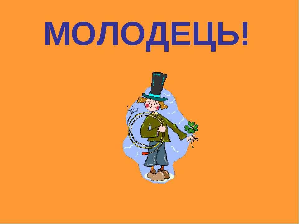 МОЛОДЕЦЬ!