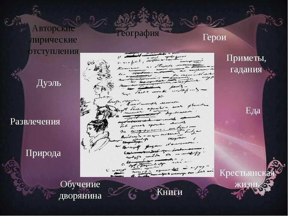 Герои Татьяна Ларина Евгений Онегин