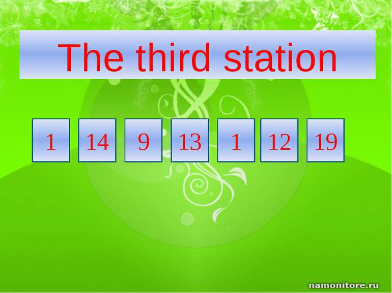 14 19 12 1 13 9 The third station 1