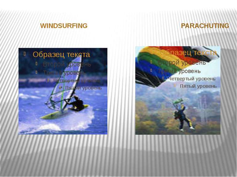 WINDSURFING PARACHUTING