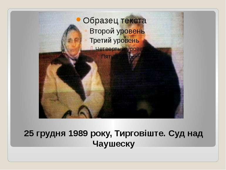 25 грудня 1989 року, Тирговіште. Суд над Чаушеску