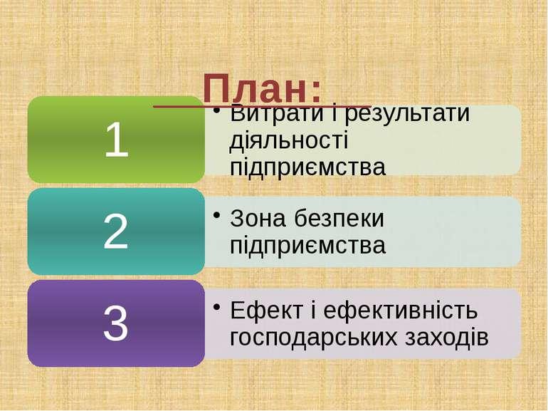 Дайте оцінку роботі підприємства Показники У %до плану Наявне обладнання 104 ...