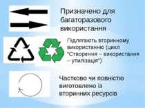 Призначено для багаторазового використання Підлягають вторинному використанню...