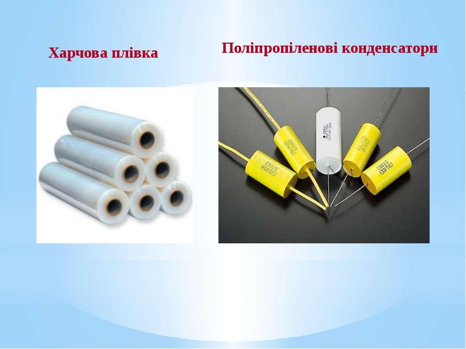 Харчова плівка Поліпропіленові конденсатори