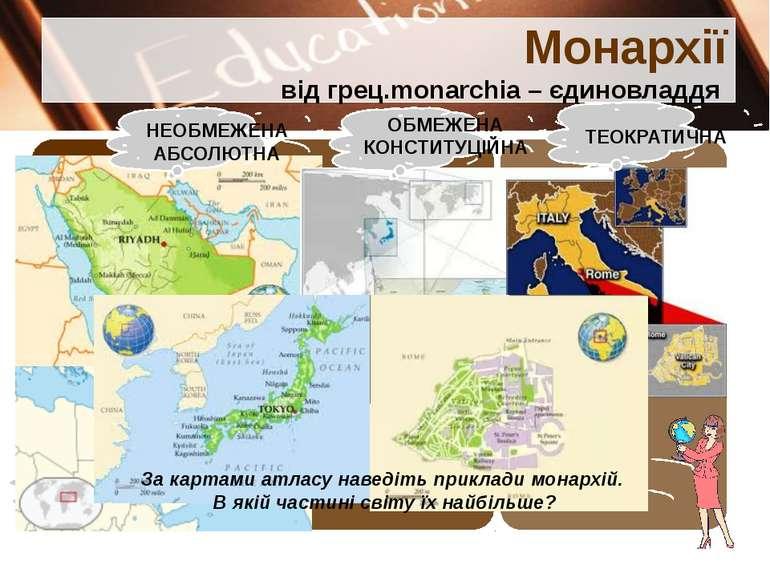 Монархії від грец.monarchia – єдиновладдя Перечинський професійний ліцей Попо...