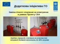 Заміна пічного опалення на електричне в рамках Проекту СВА Додаткова ініціати...