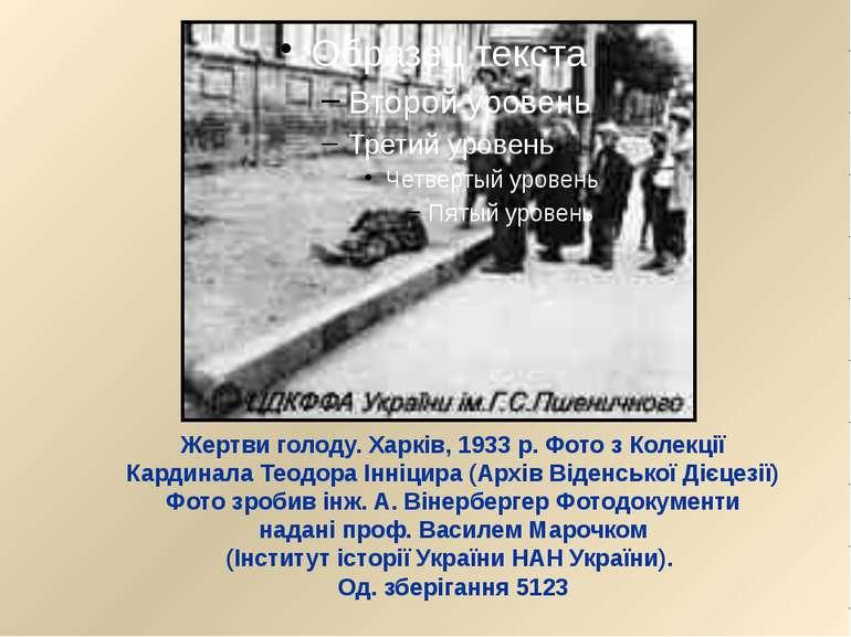 Жертви голоду. Харків, 1933 р. Фото з Колекції Кардинала Теодора Інніцира (Ар...