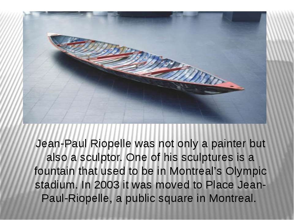 Jean-Paul Riopelle was not only a painter but also a sculptor. One of his scu...