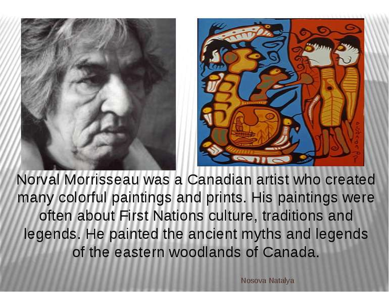 Norval Morrisseau was a Canadian artist who created many colorful paintings a...