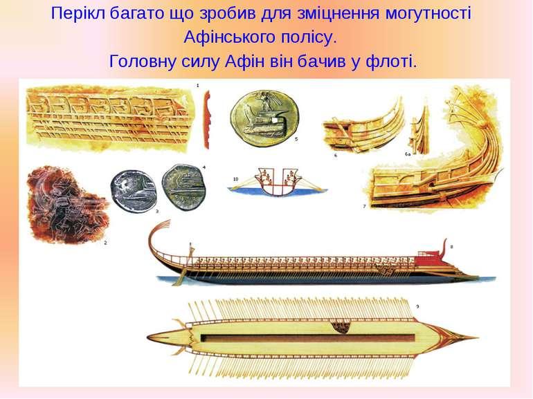 Перікл багато що зробив для зміцнення могутності Афінського полісу. Головну с...