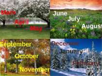 Marh May April June July August September October November December January F...