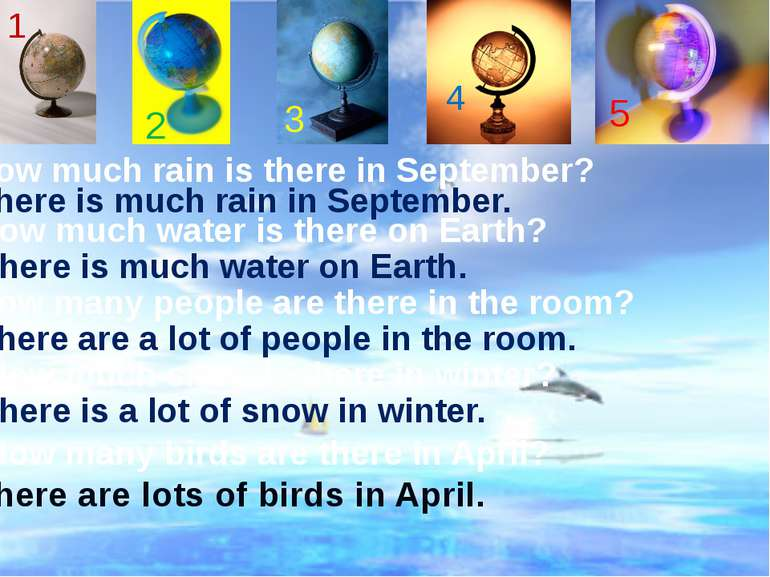 There is much rain in September. How much rain is there in September? How muc...