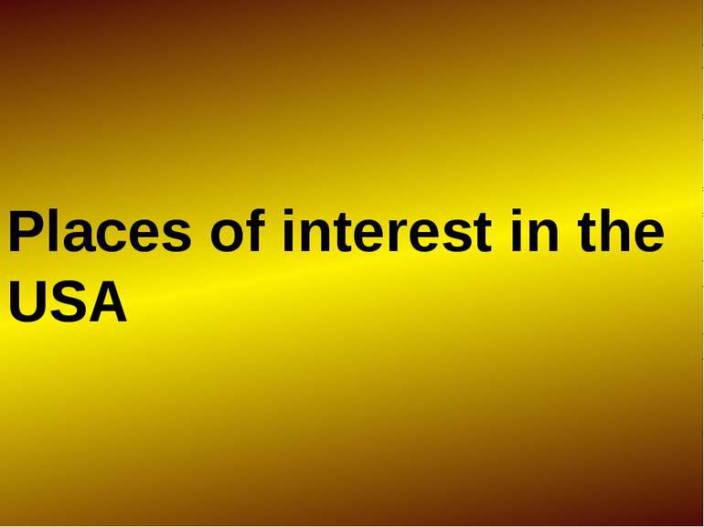 Places of interest in the USA