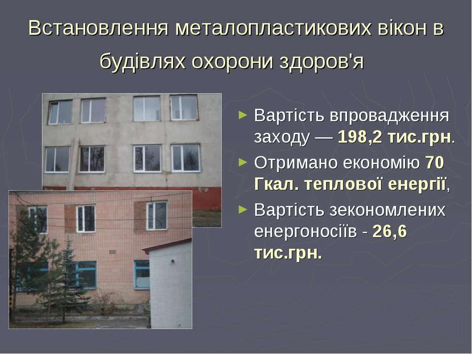 Встановлення металопластикових вікон в будівлях охорони здоров'я Вартість впр...