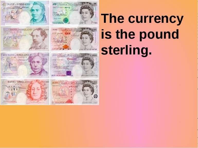 The currency is the pound sterling.