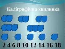 Каліграфічна хвилинка 2 4 6 8 10 12 14 16 18