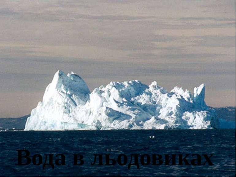 Вода в льодовиках
