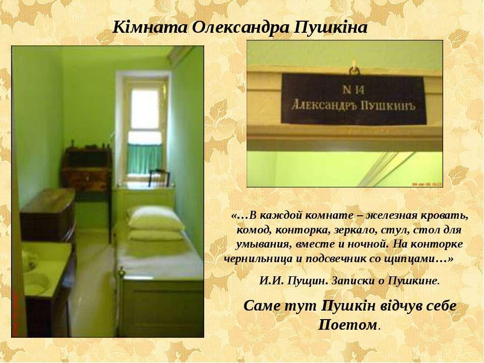 «…В каждой комнате – железная кровать, комод, конторка, зеркало, стул, стол д...