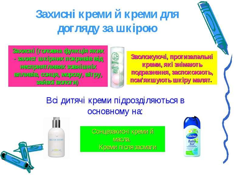 Захисні креми й креми для догляду за шкірою Захисні (головна функція яких - з...