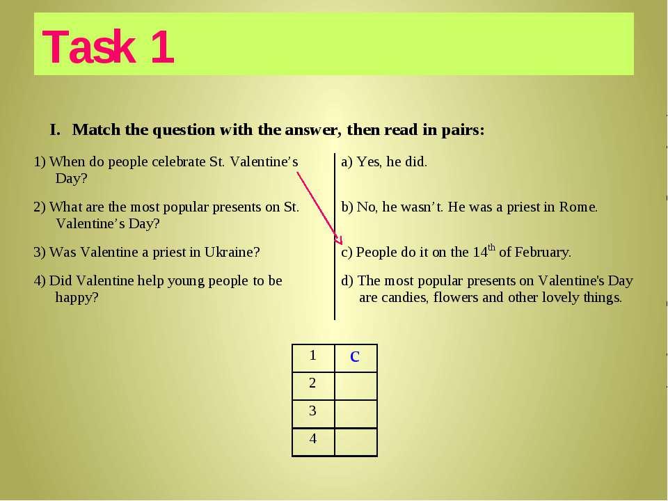 c Task 1
