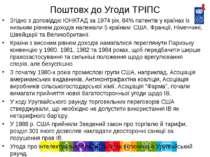Поштовх до Угоди ТРІПС Згідно з доповіддю ЮНКТАД за 1974 рік, 84% патентів у ...