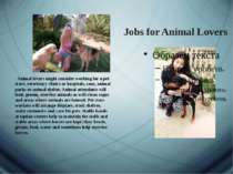 Jobs for Animal Lovers   Animal lovers might consider working for a pet store...