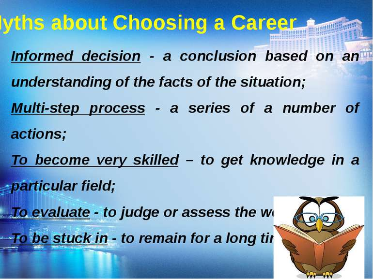 Myths about Choosing a Career Informed decision - a conclusion based on an un...