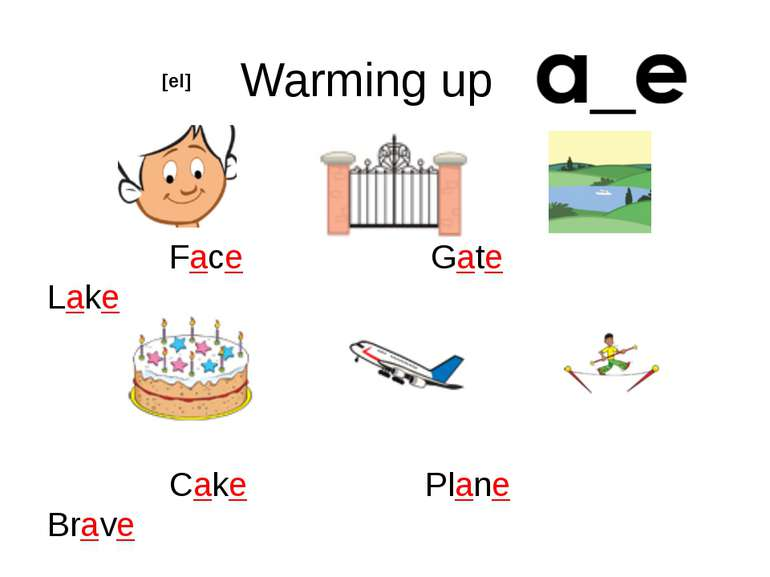 Warming up Face Gate Lake Cake Plane Brave [eI]