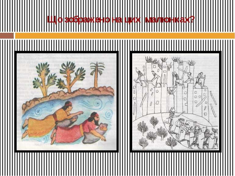 Що зображено на цих малюнках?