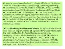 31. Issues of Improving the Productivity of Animal Husbandry. 32. Garden, Gra...
