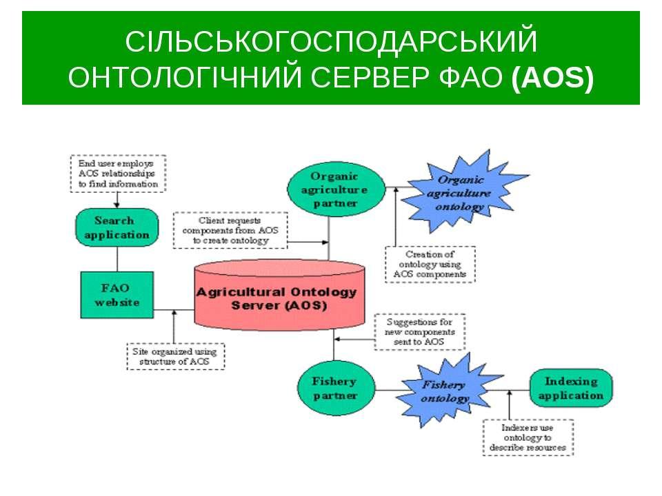 СІЛЬСЬКОГОСПОДАРСЬКИЙ ОНТОЛОГІЧНИЙ СЕРВЕР ФАО (AOS)