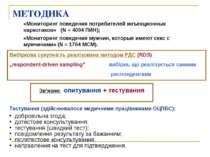 МЕТОДИКА «Мониторинг поведения потребителей инъекционных наркотиков» (N = 409...