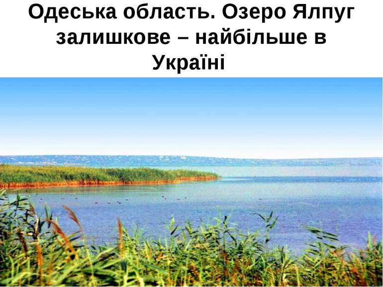 Одеська область. Озеро Ялпуг залишкове – найбільше в Україні