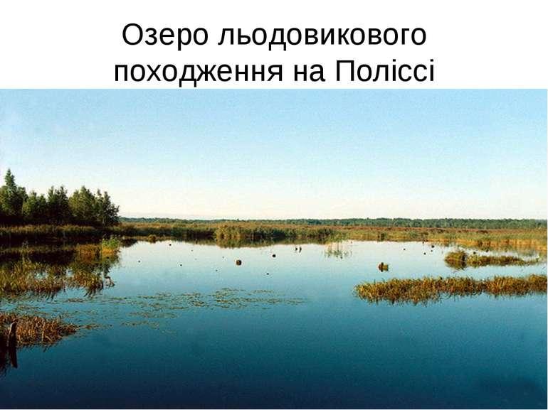 Озеро льодовикового походження на Поліссі