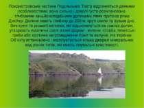 Приднiстровська частина Подiльських Товтр вiдрiзняється деякими особливостями...