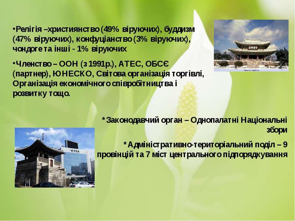 *Законодавчий орган – Однопалатні Національні збори *Адміністративно-територі...